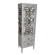 Santa Rosa Distressed Metal and Wood Cabinet