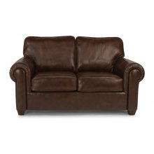 Carson Leather Loveseat with Nailhead Trim