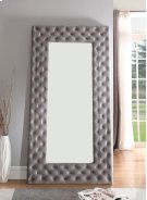 Emerald Home Lacey Upholstered Floor Mirror Gray B132-26-04 Product Image