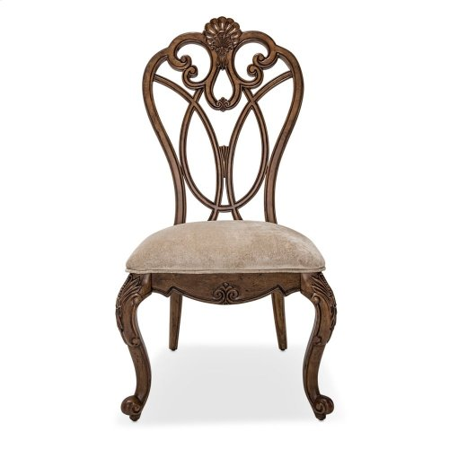Wood Back Side Chair Ginger
