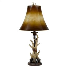 100W Resin Buckhorn Table Lamp