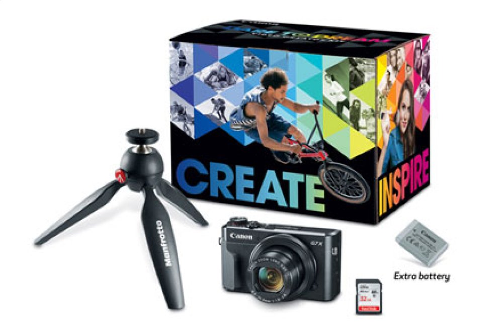 Canon PowerShot G7 X Mark II Video Creator Camera Kit Digital Camera