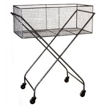 Distressed Wire Crate Cart.