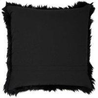 "Fur Fl101 Black 1'10"" X 1'10"" Throw Pillows Product Image"