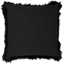 "Fur Fl101 Black 1'10"" X 1'10"" Throw Pillow"