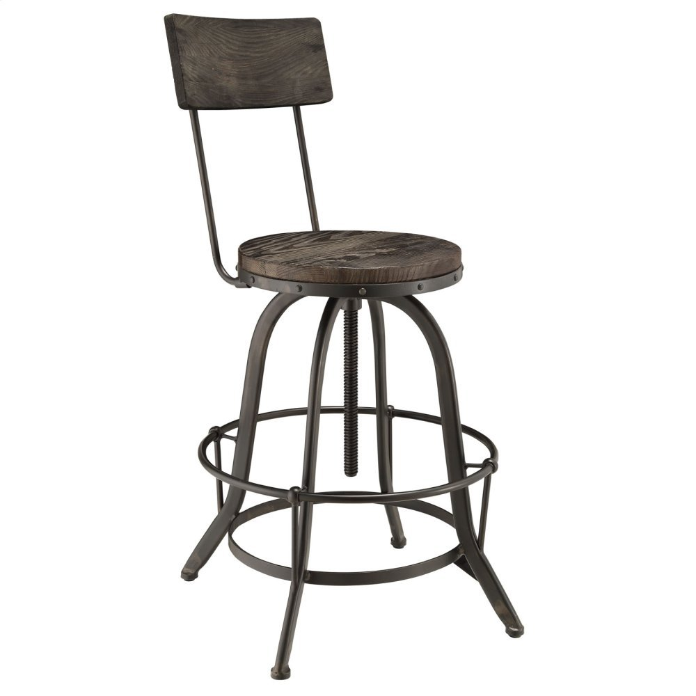Procure Wood Bar Stool in Black