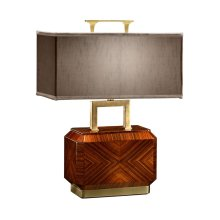 Tea Caddy Rosewood Table Lamp