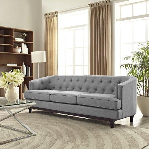 Coast Upholstered Fabric Sofa in Light Gray