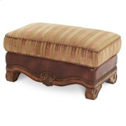 Leather/fabric Ottoman Product Image