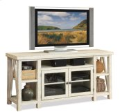 Aberdeen TV Console Weathered Worn White finish