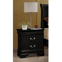 Louis Philippe Black Two-drawer Nightstand