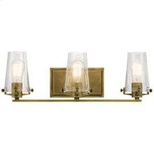 Alton 3 Light Vanity Light Natural Brass