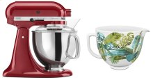 Exclusive Artisan® Series Stand Mixer & Patterned Ceramic Bowl Set - Empire Red