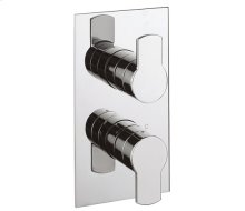 Wisp 2500 Thermostatic Valve Trim with Integrated Volume Control/Three-way Diverter - Polished Chrome