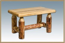 Glacier Country Log Footstool