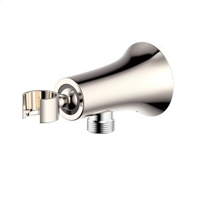 Hand Shower Wall Bracket with Outlet River (series 17) Polished Nickel