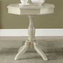 Iliana Round Accent Table, Antique White