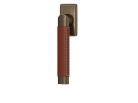 Oval Angle Stitch Out Combination Leather In Chestnut And Fine Antique Brass