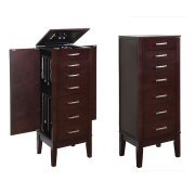 "Contemporary ""Dark Espresso"" Jewelry Armoire Product Image"
