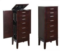 "Contemporary ""Dark Espresso"" Jewelry Armoire"