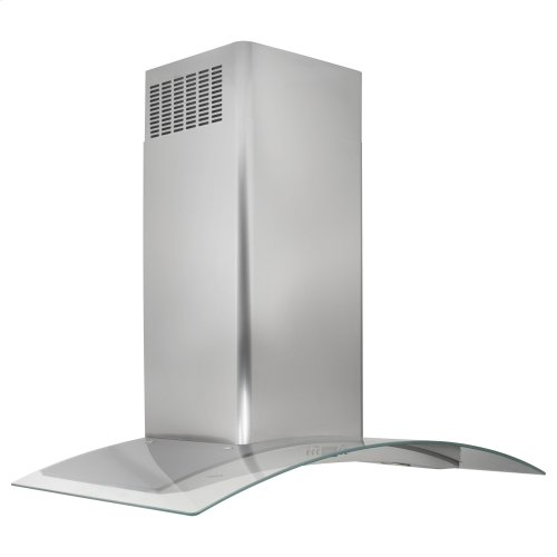 "Monogram 36"" Glass Canopy Wall-Mounted Hood"