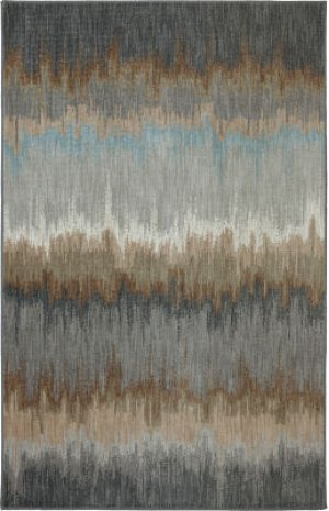 Cashel Abyss Blue Rectangle 3ft 6in X 5ft 6in