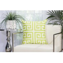 "Outdoor Pillow As047 Apple Green 20"" X 20"" Throw Pillow"