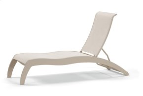 Stacking Armless Chaise w/ Wheels