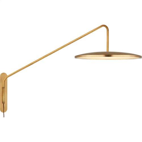 Visual Comfort PB2020NB Peter Bristol Dot LED 16 inch Natural Brass Articulating Wall Sconce Wall Light