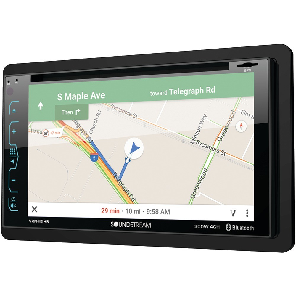 "6.2"" Double-DIN In-Dash GPS Navigation DVD Receiver with Bluetooth(R) & MHL(R) MobileLink X2"