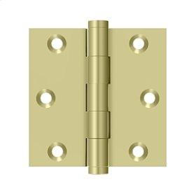 "3""x 3"" Square Hinge - Unlacquered Brass"