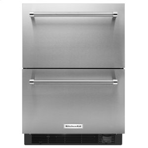 "KitchenAid24"" Stainless Steel Refrigerator/Freezer Drawer"
