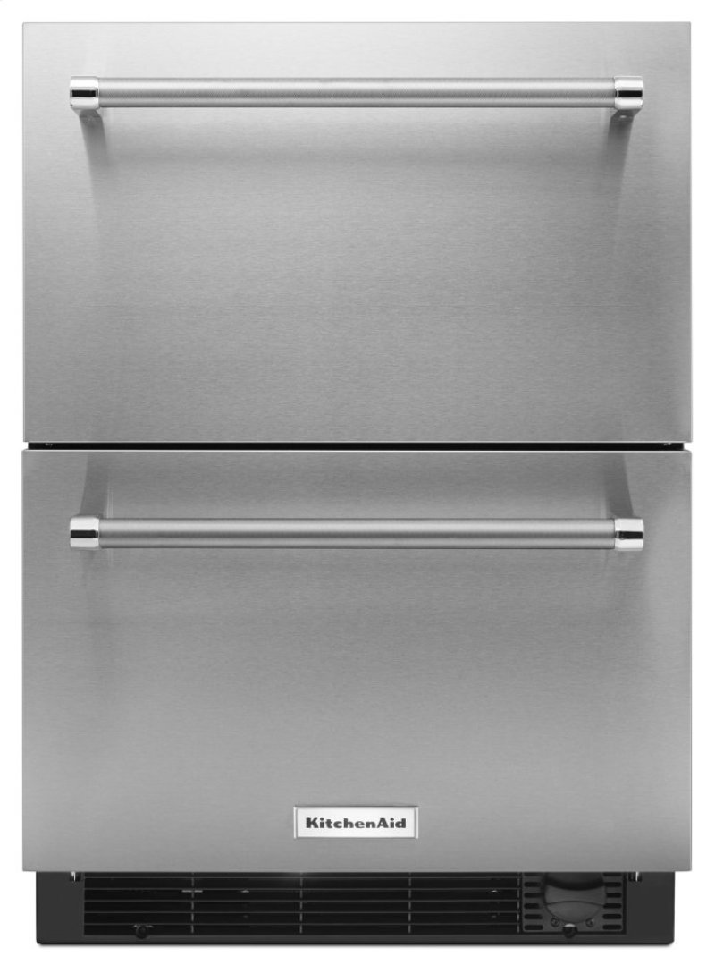 Hidden Additional 24 Stainless Steel Refrigerator Freezer Drawer Panel Ready