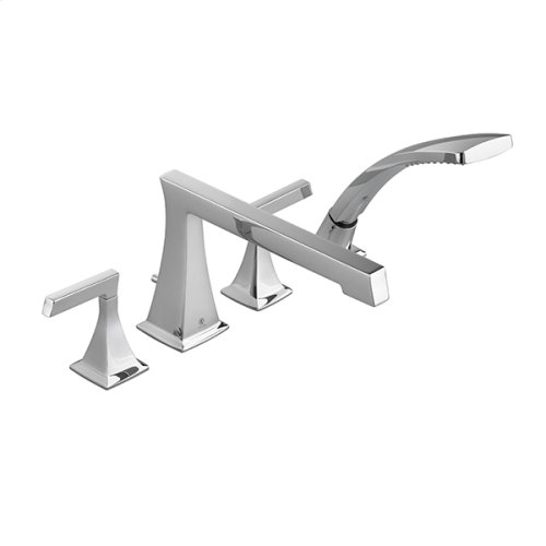 Keefe Water Saving Deck Mount Bathtub Faucet with Hand Shower - Polished Chrome