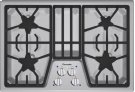 30 inch Masterpiece® Series Gas Cooktop SGS304FS Product Image
