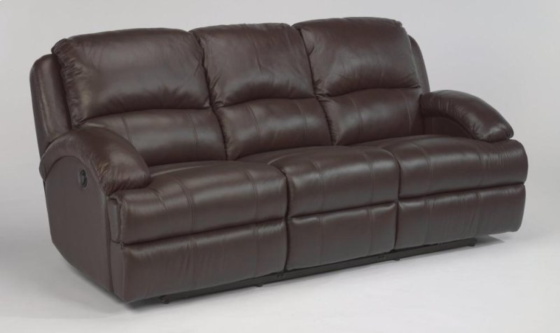 Fast Lane Leather Reclining Sofa