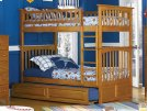 Columbia Bunk Bed Twin over Twin with Raised Panel Trundle Bed in Caramel Latte Product Image