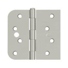 "Special Hinge for Fiber Glass Doors, 4"" x 4 1/4"" x 5/8"" Radius x SQ, Security Stud - Brushed Nickel"