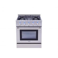 Professional 30 Inch Dual Fuel Range In Stainless Steel