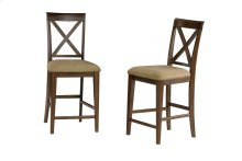 Lexi Pub Chairs Set of 2 with Cappuccino Cushion in Walnut