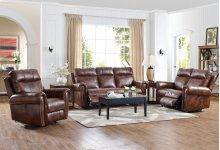 Roycroft Sofa W/pwr Fr-pecan