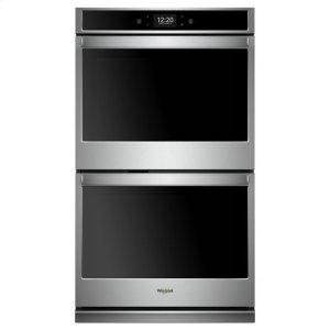 Whirlpool(R) 8.6 cu. ft. Smart Double Wall Oven with True Convection Cooking - Black-on-Stainless - BLACK-ON-STAINLESS