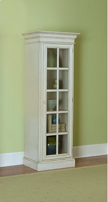 Pine Island Small Library Cabinet - Old White