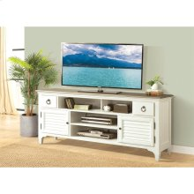Myra - 74-inch TV Console - Natural/paperwhite Finish