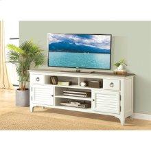 Myra - 74-inch TV Console - Natural/paperwhite Finish
