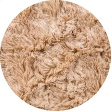 Cover for Pillow Pod or Footstool - Faux Fur - Tan
