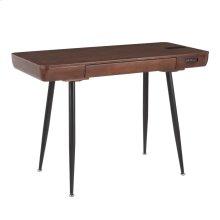 Boom Desk - Black Metal, Walnut Wood