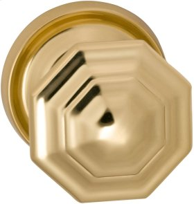 Interior Traditional Knob Latchset in (US3 Polished Brass, Lacquered)