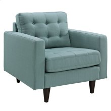 Empress Upholstered Fabric Armchair in Laguna