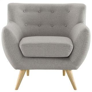 Remark Upholstered Fabric Armchair in Light Gray